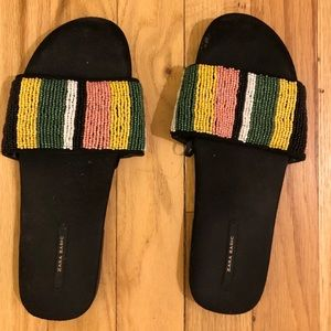 Zara beaded slides